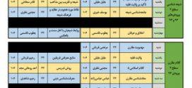 برنامه آموزشی نیمسال دوم سالتحصیلی ۹۶-۱۳۹۵ کلیه رشتهها
